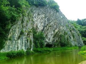 Durbuy, große Kalkstein-Falte