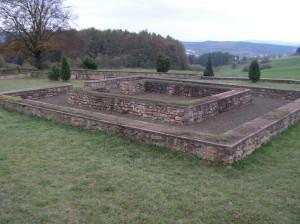 Gerolstein, Ausgrabung, gallorömischer Tempel Juddekirchhoff