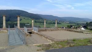 römische Villa Holsthum, Blick über das Prümtal